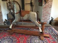Gorgeous Vintage Wooden Rocking Horse