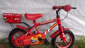 """SUPERB 12"""" WHEEL FIRE CHIEF BIKE, HARDLY USED GREAT PRESENT"""