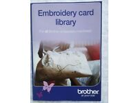 Genuine Brother Machine Embroidery Card Library Booklet