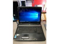 "EMACHINES 17"" LAPTOP , DUAL CORE, 4GB RAM 250GB HDD WIN 10 ONLY £77 !!"