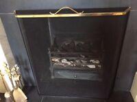 Fireguard - Black and brass detail