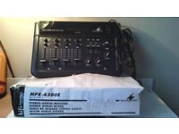 for sale a 4 channel stereo mixing desk with added echo effects etc