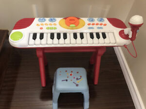 Electronic Keyboard Piano with Microphone & Stool