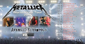 2 tickets for Metallica in Montreal