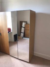 Ikea tall pax wardrobe double mirror