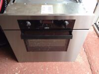 zanussi built under stainless steel electric oven gas hob & extractor