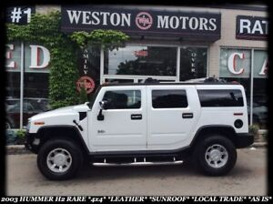2003 Hummer H2 *4X4 *NEW ENGINE *GREAT SHAPE *LOCAL TRADE *AS IS