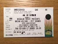 Brian Wilson Kelvingrove Bandstand ticket X1 03/08