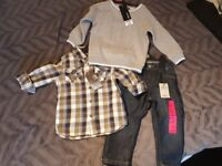 Boys Outfit jumper shirt jeans size 1-1/2 - 2 years