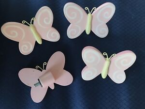 Butterfly curtain rod ends