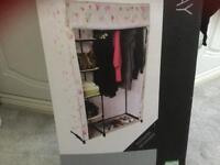 Floral flat pack wardrobe