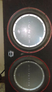 2 subs in box and amp