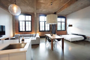 Fully Furnished Loft at 1070 Bleury near old Montreal