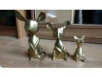 Solid Brass mice set
