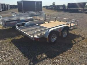 "K-Trail 68"" x 123"" Galvanized Utility Trailer, Double Axle"
