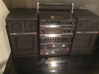 Vintage Sony FH-15R Portable HD Stereo Receiver Equalizer Cassette Deck & Remote (1986)