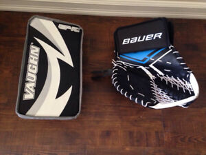 Selling ball hockey trapper and blocker