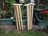 CRICKET STUMPS AND BAILS, USED ONCE, EXCELLENT QUALITY