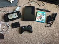 Wii U with pro controller and mario kart 8