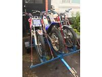 Sherco 125cc trials bikes