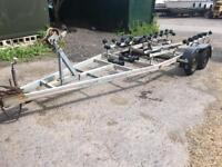 BOAT TRAILER TWIN AXLE SUITABLE FOR SHAFT BOAT