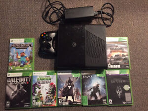 XBOX 360 500GB with wireless controller and 7 games