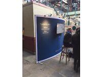 Aluminium stretch fabric exhibition stands