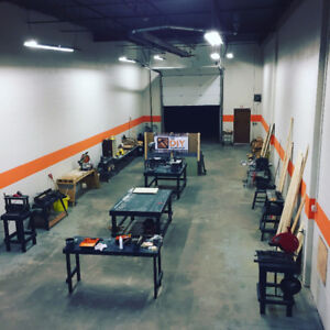 The DIY Workshop in Nisku, fully equipped for your projects