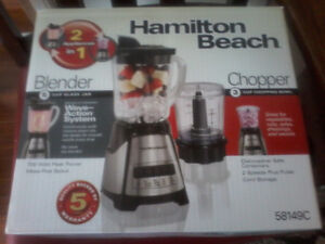 Hamilton Beach 2 in 1 Blender/chopper