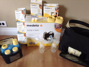 Medela In-Style Double Pump, Manual pump, tons of accessories
