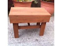 Small wooden table handmade