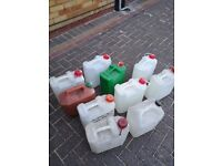 'FREE PLASTIC GALLONS CAN BE CLEANED REUSED'!!