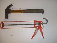 DIY tools . Paint roller excluding sleeve £1.00.. Hammer £2.
