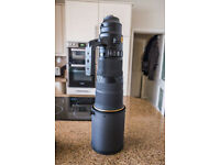I have for sale my Nikon 500mm f4E FL ED VR AF-S lens.