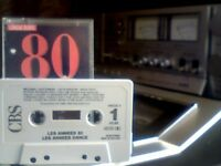 VARIOUS ARTISTS - 80's LES ANNEES DANCE PRERECORDED CASSETTE TAPE 21 popular pop / dance chart hits.