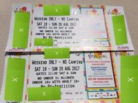 2 x V Festival Chelmsford Weekend Tickets No Camping