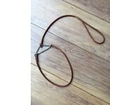 Dog show lead and collar half check leather