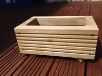Solid wooden decking board pot