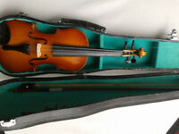 VIOLIN 1/4 complete in case--with new strings