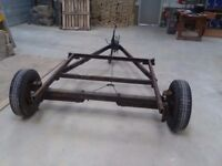 Trailer from caravan chassis for spares or repair