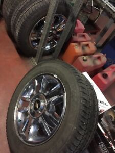 20 inch Chevy wheels WITH TIRES!