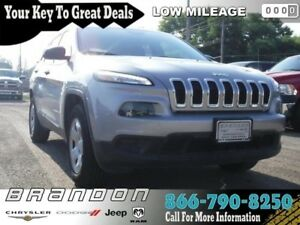2016 Jeep Cherokee Sport - Low Mileage, Rear View Camera, Heated