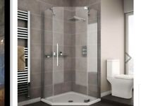 New Apollo Diamond Shower enclosure with tray and trap