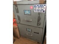 Steel filling cabinet, two drawers