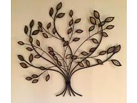 LARGE BEAUTIFUL METAL / GLASS WALL ART - Hanging decoration home or garden picture