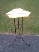 Distressed Pine & Iron Plant Stand - Dutch Auction Kitchener / Waterloo Kitchener Area Preview