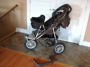 Valco Trimode Single or Double jogging stroller