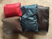Packaway Travel / Camping pillows x4
