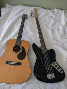 Acoustic and Bass guitar