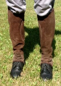 Leather Half-Chaps and Auken Paddock Boots